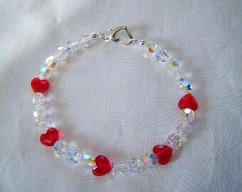 Heart Bracelet Crystal Valentine Swarovski