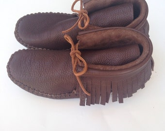 Moccasins Adult Mocha Custom Made