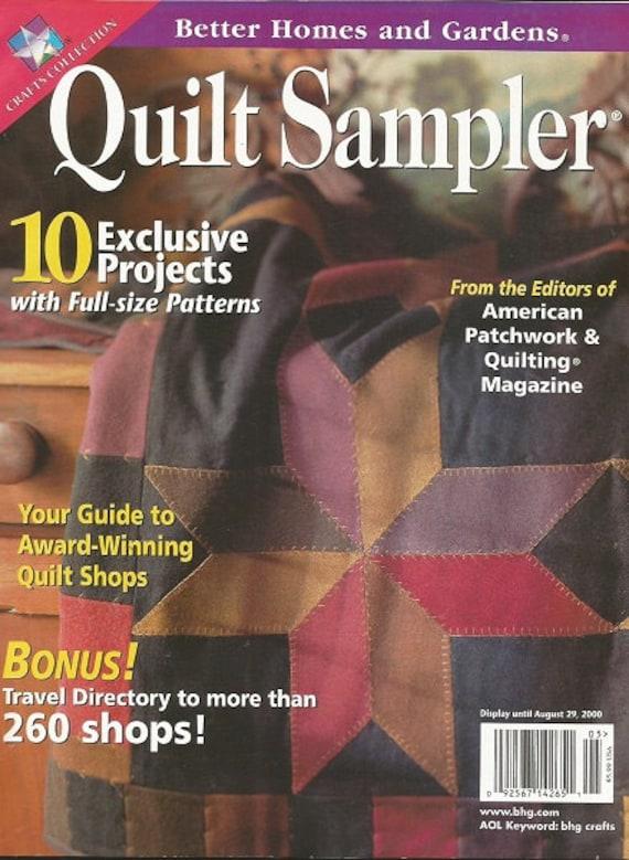 Better Homes And Gardens Quilt Sampler Magazine