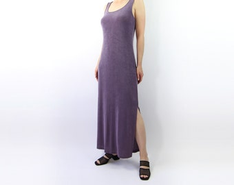 VINTAGE Lavender Maxi Dress Tank Dress Long