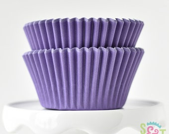 Solid Purple GREASEPROOF Cupcake Liners BakeBright Baking Cups | ~30 count