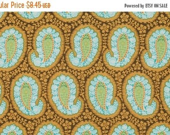 Fall Clearance Amy Butler Fabric - Henna Paisley in Blue from the Belle Collection