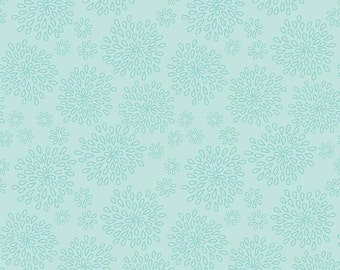 Lulabelle Petal in Mint Fabric by Riley Blake - Half Yard