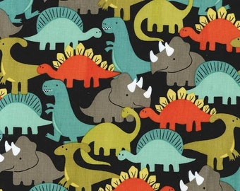 Michael Miller Fabrics - Half Yard of Dino Mites in Retro