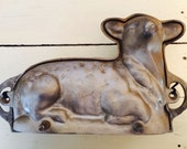Heavy Cast Metal Lamb Shape Cake Mold Vintage Kitchen