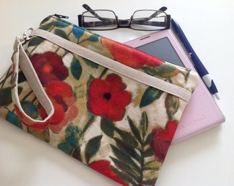 Wristlet Clutch, Wristlet Wallet, Gift Under 30, Coworker Gift, Cell Phone Clutch, Ready To Ship