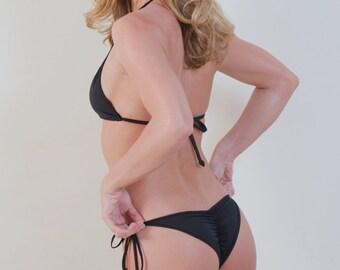 Bikini Swimwear Micro Bikini Black String bikini - Star Bikini Bottom