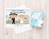 New Orleans Save-the-Dates, New Orleans Wedding Invitation, Mardi Gras Wedding, Cartoon Wedding Invitation, Unique Wedding Ideas