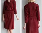 1950s Knit Set // Kimberly Knit 2piece Set // vintage 50s set