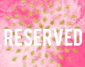 Reserved listing for Nalana - printing + shipping