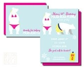 polar bear plunge // birthday party invitation and thank you card