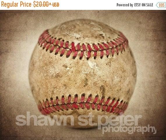 Flash Sale Home Decor: FLASH SALE Vintage Baseball Hardball Centered View By