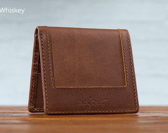 The Classic Uptown Mens Leather Wallet - Whiskey | Mens Wallet, Leather Bifold Wallet