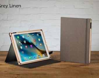 The Contega Linen Case for iPad Pro 12.9 - Grey Linen