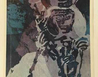 Sister Corita Kent Vintage Print 1960s - Madonna