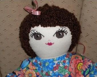 Cross-stitch doll