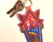 Tiki hut  - key chain