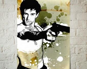 Robert De Niro, Celebrity, Fan Art illustration, Pop Art, Movie Poster, Art Print, Dorm Decor, Man Cave Art, Movie Star
