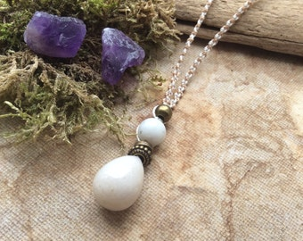 Quartz Necklace, Gem Stone Necklace