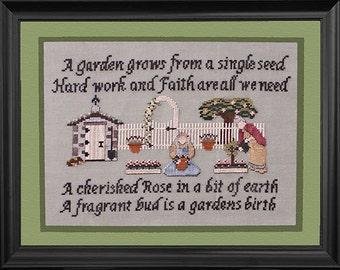 Gardening Spinsters PDF Cross Stitch