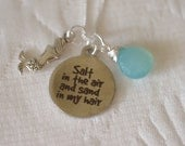 Salt in the Air Necklace - Mermaid FlipFlop or Shell Charm - Customize