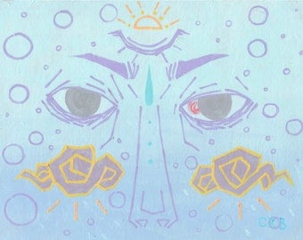 Concealer - 11 x 14 in. art print // hipster pastel goth mood anime painting