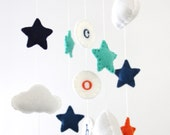 Personalized Cloud & Star Baby Mobile- U Pick Colors