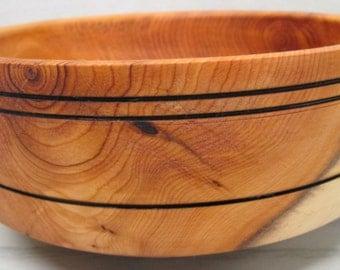 Yew Wood Fruit Bowl