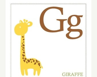 ON SALE G is for Girrafe - Alphabet Print