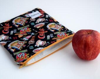 Eco Friendly Bag, Reusable Sandwich Bag, Wipeable Reusable Bag, Handmade, Ready to Ship