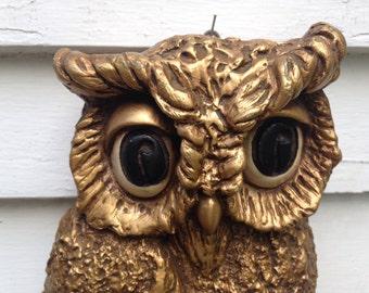 Vintage Owl Universal Statuary Wall Hanging 1967