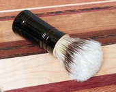 Black Men's Shaving Brush with Boars Hair Bristles Soft Stripe