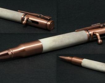 Handcrafted Deer Antler .30cal bolt action bullet pen (#2)
