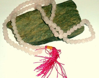 Rose Quartz Jap Mala Prayer Beads