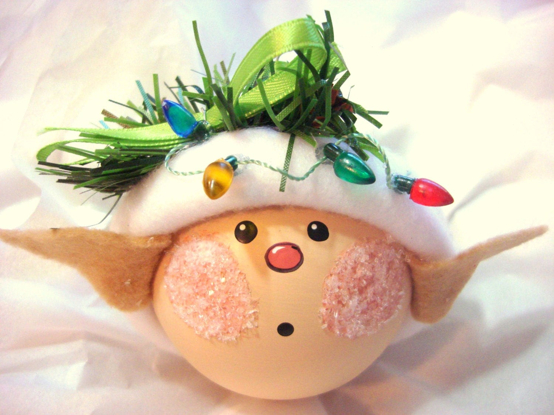 Elf christmas ornaments string of christmas lights hand - String ornaments christmas ...