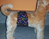 Male Dog Belly Bands Waist 13.25 x 3.50 Fits 11.25 to 15.25 inches Wraps by Sew Dog Diapers Quilted Padded Belt BellyBand  #105 BUBBLES