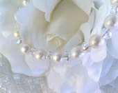 "Beautiful Fresh water 8mm Pearl Medical Alert bracelet  7 1/2""  (Makes a 9"" bracelet)"