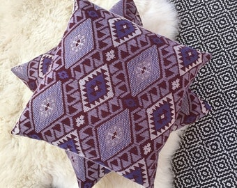 Turkish Kilim Throw Pillow - Purple