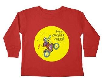 100% Crocodile Chrome - Toddlers - LongSleeve Boys / Girls T-shirt / Tee by Oliver Lake - iOTA iLLUSTRATiON
