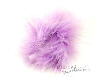 Light Purple Marabou Puffs 3 inch- Light Purple Marabou Puffs, Light Purple Marabou Feather, Light Purple Marabou Feather Puffs, Purple Puff