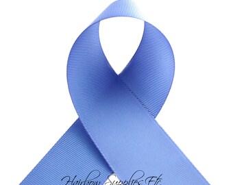 Wisteria 2-1/4 inch ribbon - True Blue, Blue Ribbon, Hair Bow Supplies, Blue Ribbon By The Yard, True Blue Hair Bow - Hairbow Supplies, Etc.