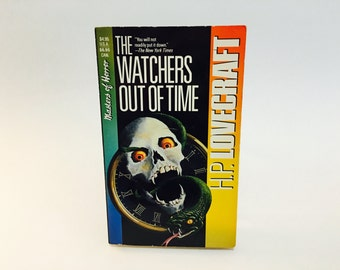 Vintage Horror Book The Watchers Out of Time - H.P. Lovecraft 1970/90s Gothic Classics