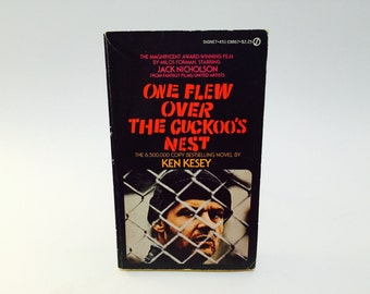 Vintage Pop Culture Book One Flew Over The Cuckoos Nest - Ken Kesey 1975 Edition Paperback Classic