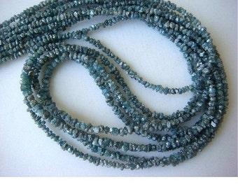 55% ON SALE Blue Rough Diamonds, Blue Raw Uncut Diamond Beads, Blue Raw Diamonds, 4mm To 3mm, 8 Inch Strand