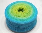 Discounted - Cashmere silk gradient yarn lace weight yarn handdyed yarn 93g (3.3oz) - Spring breeze