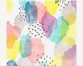SALE Boho fabric, Organic Fabric, Quilting Cotton, Apparel fabric, Floral fabric, Rainbow Fabric, Canvas print cotton,nursery fabric, Cloud9