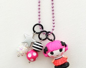 Lalaloopsy Charlotte Charades Series 3 Charm Necklace