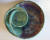 Chip and Dip, handmade ceramic dish, ceramics and pottery, pottery bowl, handthrown stoneware
