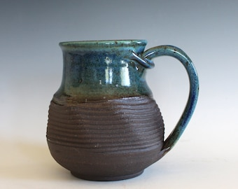 Coffee Mug Twisted, 18 oz, handthrown ceramic mug, stoneware pottery mug, unique coffee mug