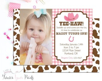 Cowgirl Invitations, Cowgirl Party Invites, Cowgirl Invites, Birthday Party Invitation, Cowgirl Birthday, Printable Invitations